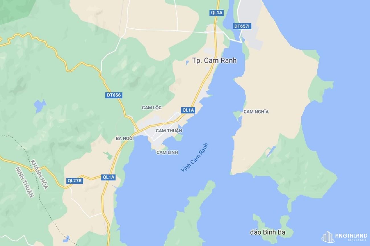 Vị trí địa chỉ dự án Condotel  Asiana Botanixity Cam Ranh