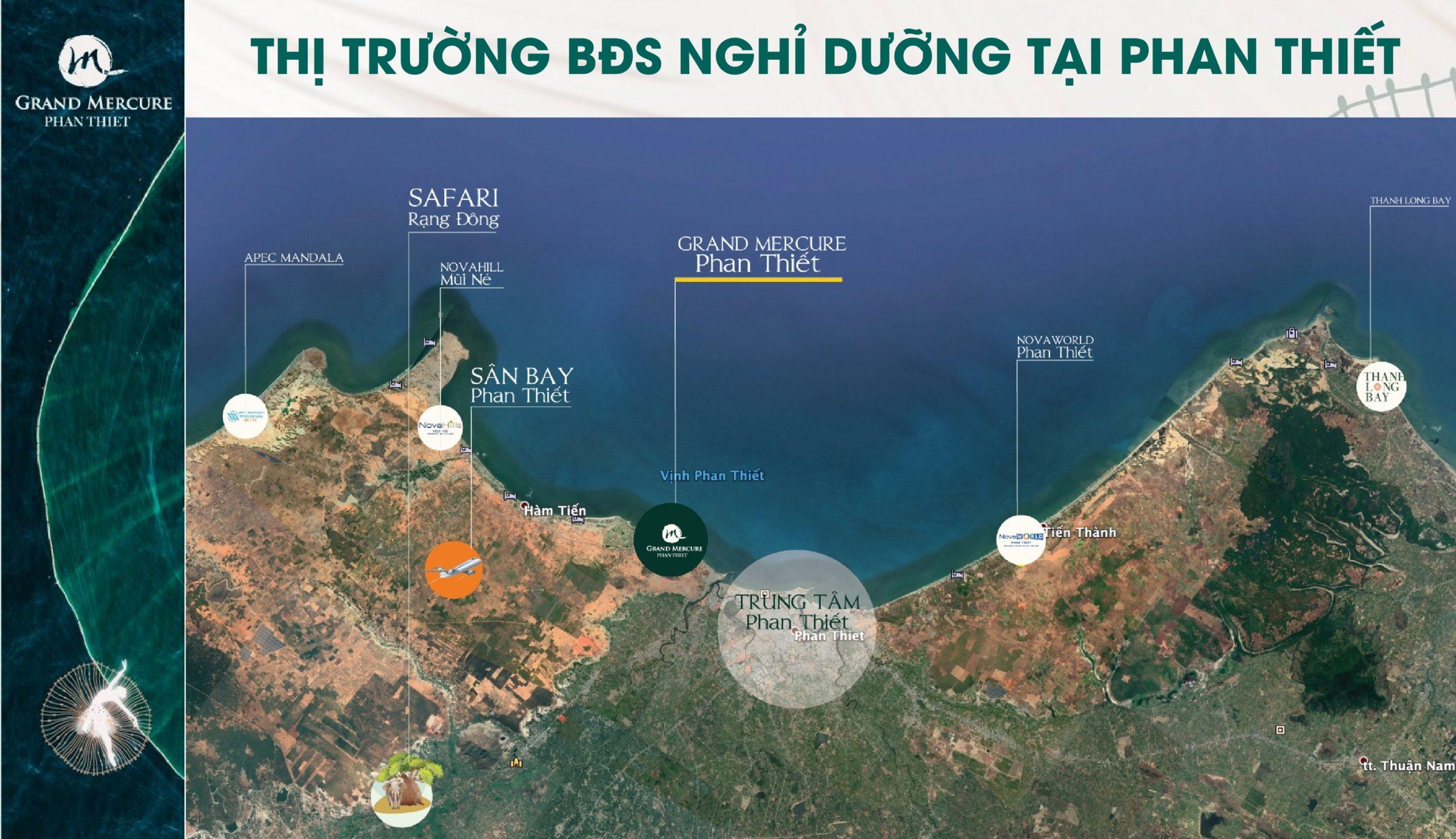 Vị trí địa chỉ dự án căn hộ nghỉ dưỡng Grand Mercure Phan Thiết