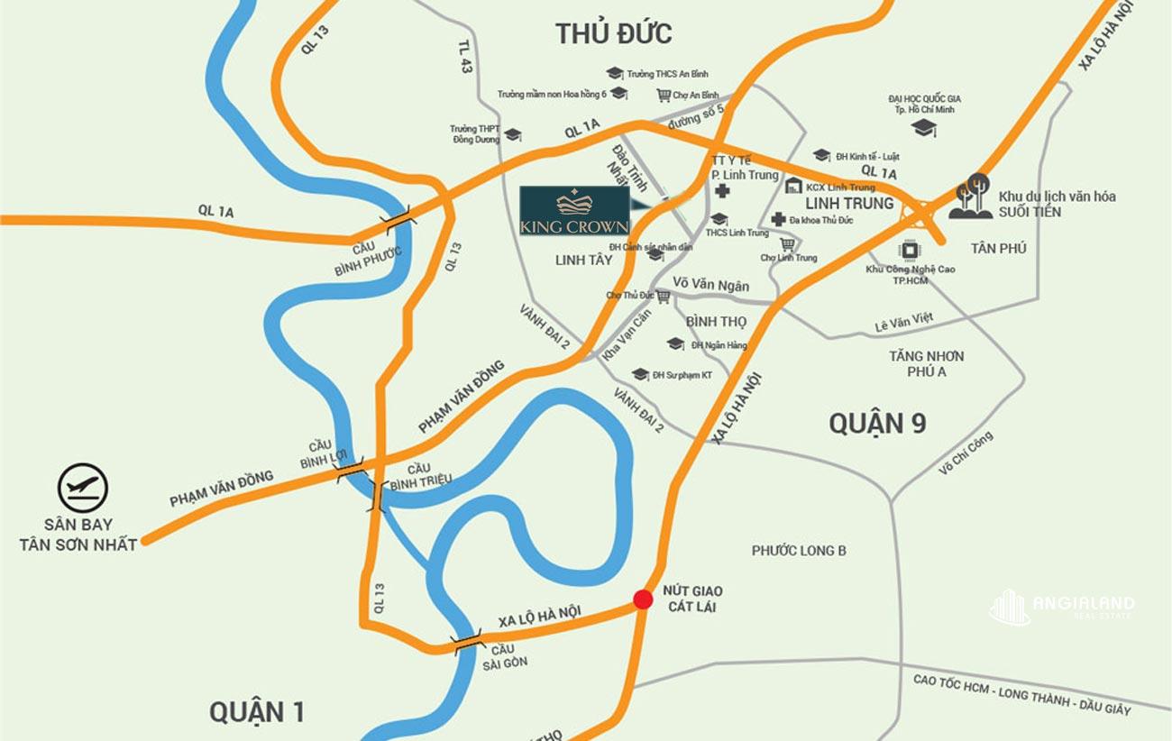 Địa chỉ dự án KingCrown City Phạm Văn Đồng Q.Thủ Đức
