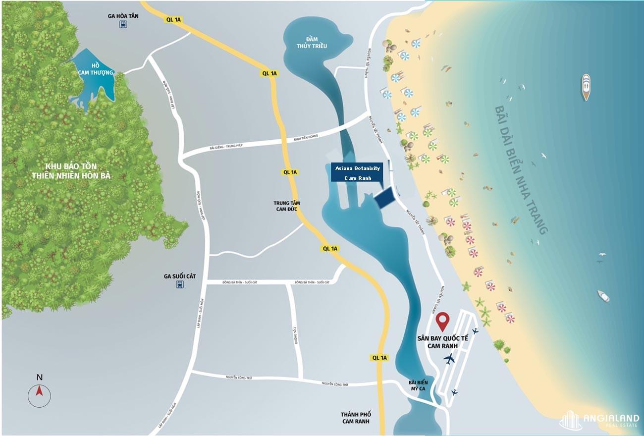 Địa chỉ vị trí dự án Asiana Botanixity Cam Ranh