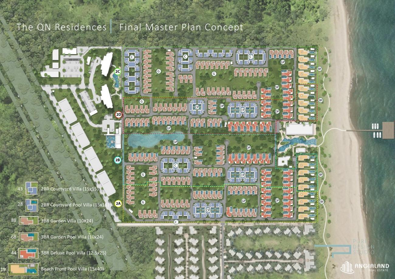 Mặt bằng dự án biệt thự nghỉ dưỡng chung cư Maia Resort Quy Nhơn huyen phu cat Đường Quốc Lộ 1D chủ đầu tư VinaCapital