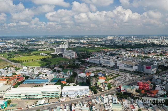 Flycam toàn cảnh tiến độ Moonlight Centre Point Q.Bình Tân T08/2021