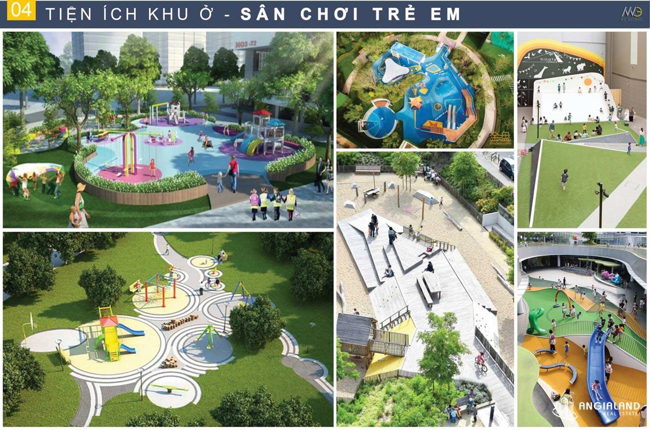 Khu vui chơi trẻ em, không gian dạo bộ Moonlight Centre Point Hưng Thịnh Quận Bình Tân