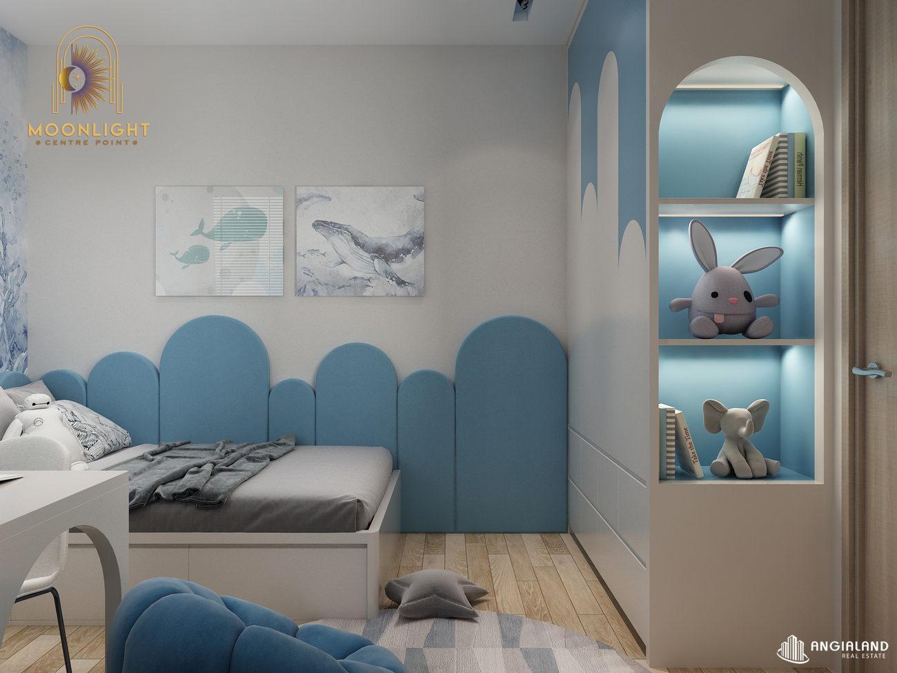 Nhà mẫu căn hộ loại 2 Phòng Ngủ Moonlight Centre Point diện tích 65m2