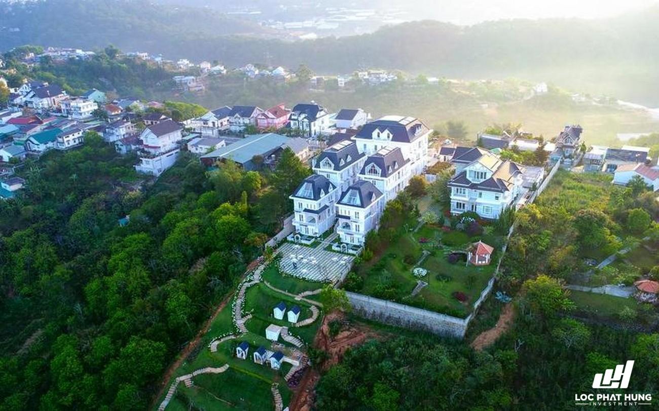 Phối cảnh tổng thể Hotel Da Lat De Charme Village Phuong 10 Đường 94 Hoàng Hoa Thám