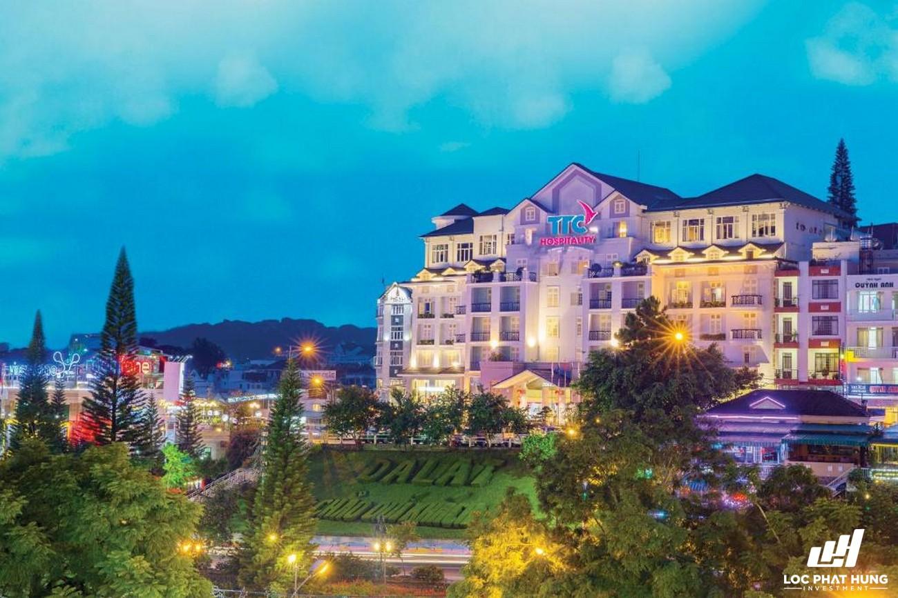 Phối cảnh tổng thể Hotel TTC Ngọc Lan Đà Lạt Phường 1 Đường 42 Nguyễn Chí Thanh