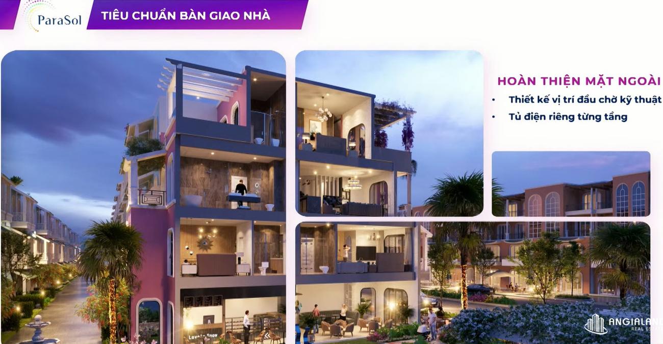 Tiêu chuẩn bàn giao nhà phố Para Sol Cam Ranh
