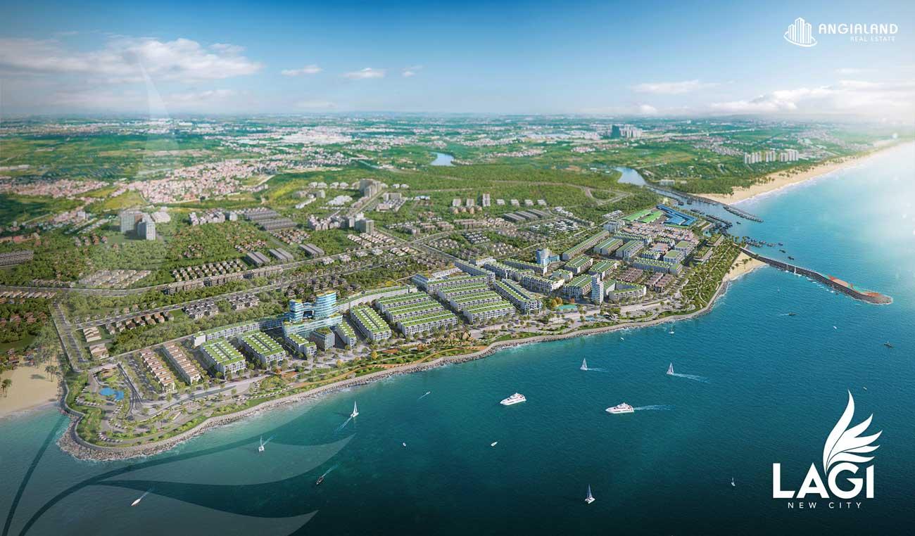 Toàn cảnh dự án đất nền Lagi New City Bình Thuận.