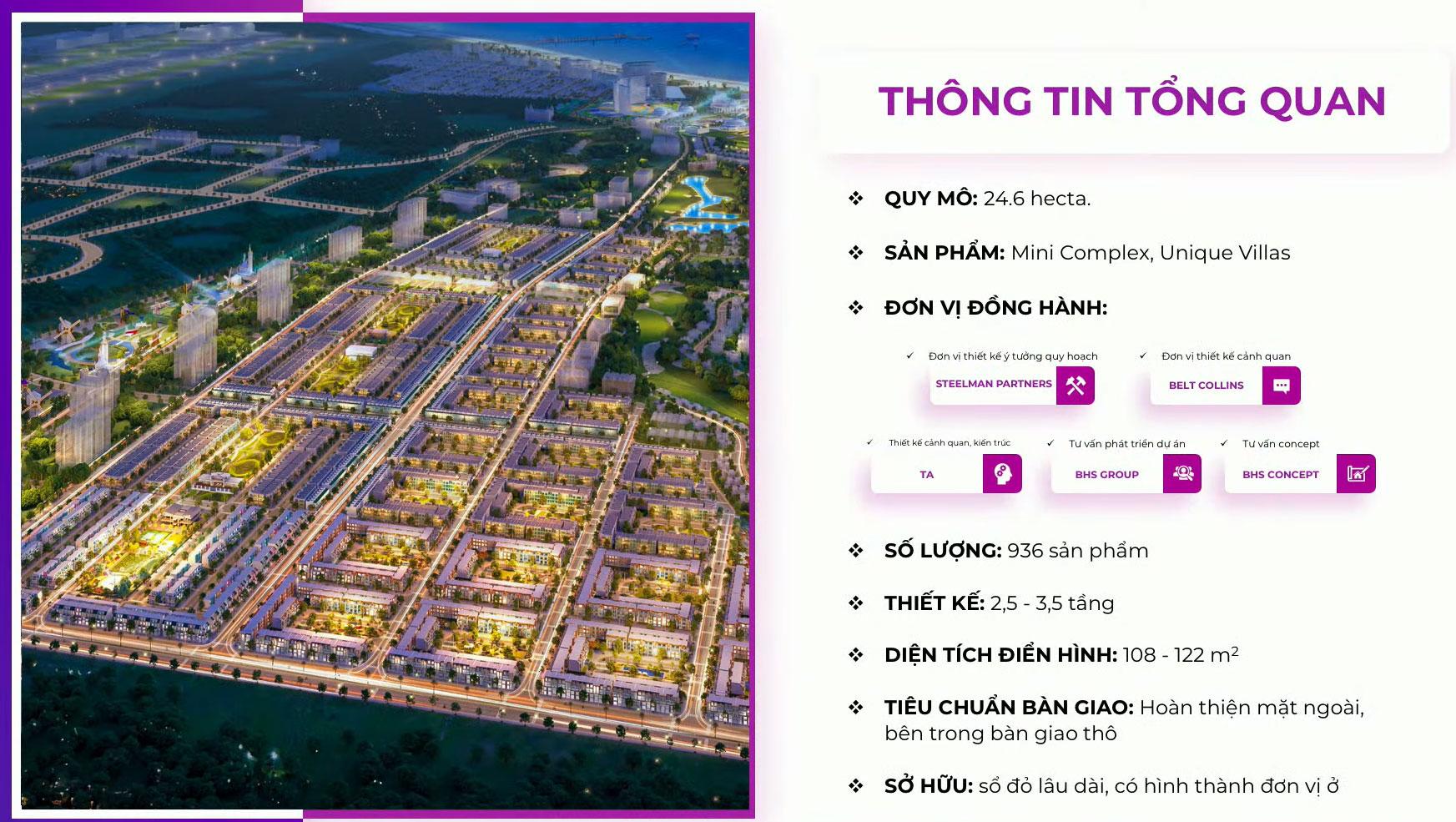 Tổng thể dự án nhà phố thương mại Parasol Cam Ranh